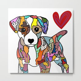 Jack Russell Puppy Metal Print