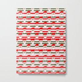 Knitted Santa Metal Print