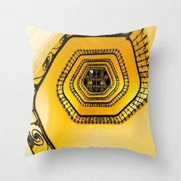 Carlton Hotel Cannes Spiralling Stairwell! Throw Pillow