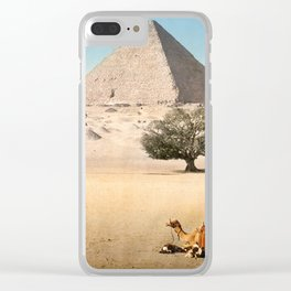 Vintage Pyramid : Grand Pyramid Gizeh Egypt 1895 Clear iPhone Case