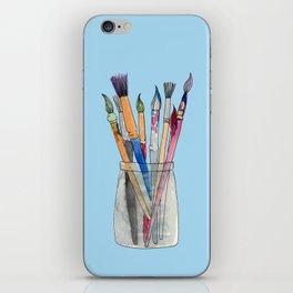 Paint Brushes iPhone Skin