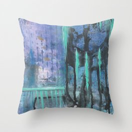Patina Of Decay Throw Pillow