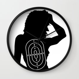 Female Human Shape Target Wall Clock