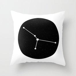 Cancer Star Sign Night Sky Circle Throw Pillow