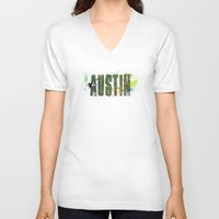 austin V-neck T-shirts featuring Austin by Tonya Doughty