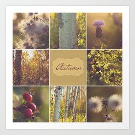 Autumn Beauty - Vignette Art Print