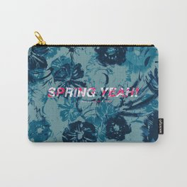 Spring Yeah! - Blue Flowers Carry-All Pouch