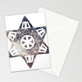 Metatron's Cube Time Wheel ~ Carina Nebula Stationery Cards
