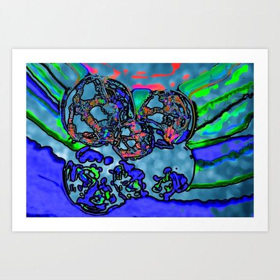 Multitude of Blue Art Print