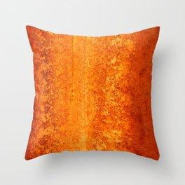 Abstract Orange Rust Throw Pillow
