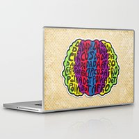 afro Laptop & iPad Skins featuring Circus Afro! Circus Afro!  by Brieana