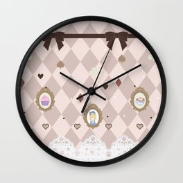 Alice's Tea Party Wall Clock
