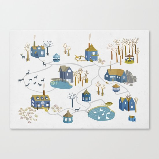 BLUE VILLAGE Canvas Print