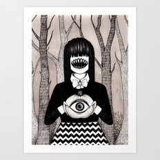 pumpkin eye Art Print