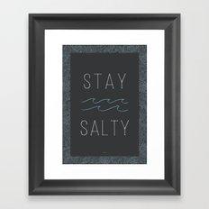 Stay Salty Framed Art Print
