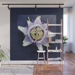 flower and nature - blue flower Wall Mural