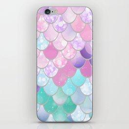 Mermaid Sweet Dreams, Pastel, Pink, Purple, Teal iPhone Skin