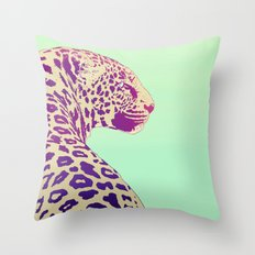 Leopard under the Sun Throw Pillow