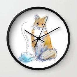 Foxy Tea Wall Clock