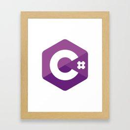 C# - C Sharp Framed Art Print
