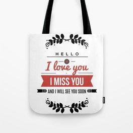 I love you lettering design Tote Bag