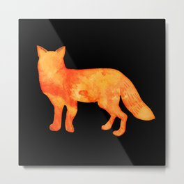 Fox in the dark Metal Print