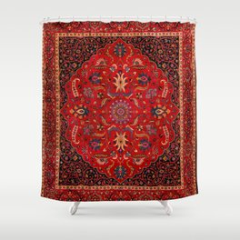 Antique Persian Rug Shower Curtain