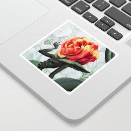 Alice in Wonderland Rose Sticker