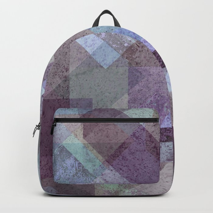 PLUM TURQUOISE ABSTRACT GEOMETRIC Backpack
