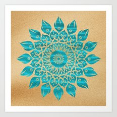 Summer Mandala Art Print