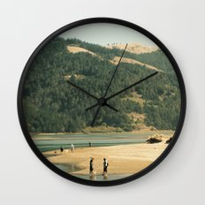 Dog Beach Wall Clock