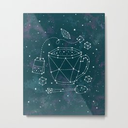 Tea Time Constellation Metal Print