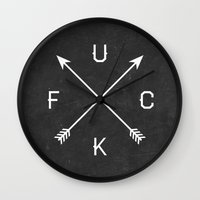 fuck you Wall Clocks featuring Fuck by Text Guy