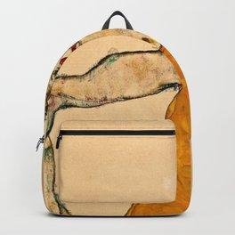 Egon Schiele - Self Portrait In Yellow Vest Backpack