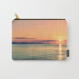 Pastel Sunset Calm Blue Water Carry-All Pouch