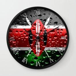 Flag of Kenya - Raindrops Wall Clock