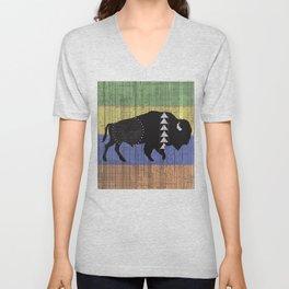Charcoal Buffalo Unisex V-Neck