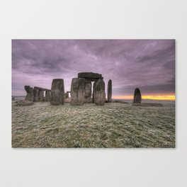 Sunrise over the stones  Canvas Print