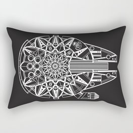 Millennium Falcon Mandala Illustration Rectangular Pillow
