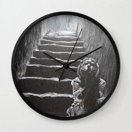 kid on the stairway Wall Clock