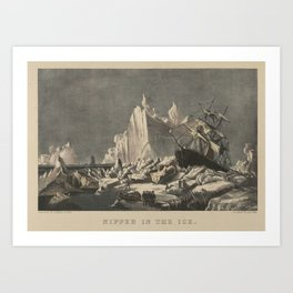 Nipped in the Ice , Lithographed and published by Currier & Ives Art Print