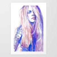 cara Art Prints featuring Cara by Ava Carmen