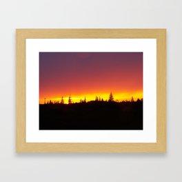 Striking Sunset Framed Art Print