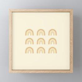 Neutral Rainbows Framed Mini Art Print