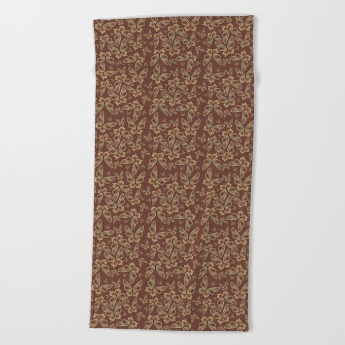 Chocolate Butterflies Beach Towel
