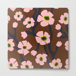 Pink Blooms Everywhere No 04 Metal Print