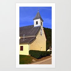 The village church of Niederranna | architectural photography Art Print