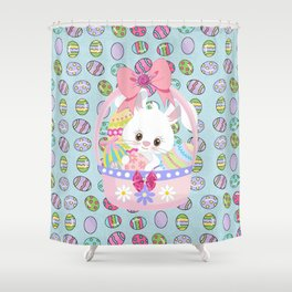 Easter Bunny Easter Basket Shower Curtain