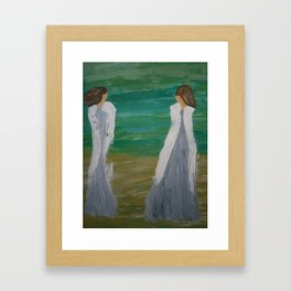 "Angel Painting, ""In the Clouds"" Framed Art Print"