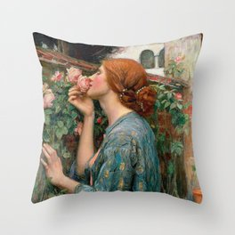 John William Waterhouse The Soul Of The Rose Throw Pillow
